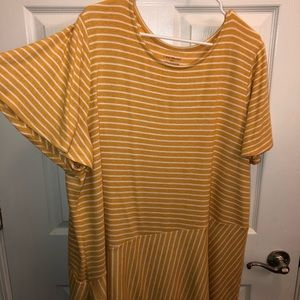 Never worn asymmetrical shirt with bell sleeves